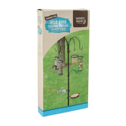 Deluxe Wild Bird Hammertone Feeding Station & Feeders Water Seed Nuts Nature's Market Kingfisher